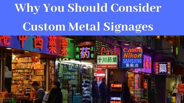 metal signages